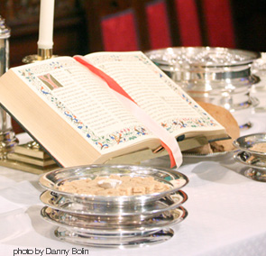 a table set for communion