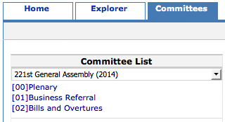 committees screenshot