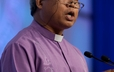 Bishop Reuel Marigza, General Secretary of the United Church of Christ in the Phillippines, brings ecumenical greetings to the 220th GA.