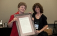 Lynn Smit stands with Alyson A. Janke, winner of the C. Fred Jenkins Constitutional Services Award.
