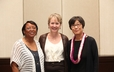 Women of Faith Award recipients, Judith Henry, Rosemary Rice McMahan and Ann Rhee Menzie.
