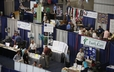 A sample of the variety of booths featured in the GA 220 Exhibit Hall.