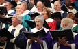 Combined mass choir sings during opening worship for the 220th General Assembly.