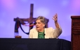 Ruling elder Cindy Bolbach, Moderator of the 219th General Assembly (2010), preaches during opening worship at the 220th General Assembly.