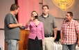 Hot Metal Bridge Faith Community's drama team provides a light-hearted, yet poignant, skit on church life during the worship at 220 GA.