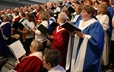 Combined mass choir provides glorious music during the opening worship for the 220th General Assembly.