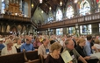 Some of the Presbyterians in town for the 220th GA join the congregation at First Presbyterian Church, Pittsburgh, for worship on July 1.