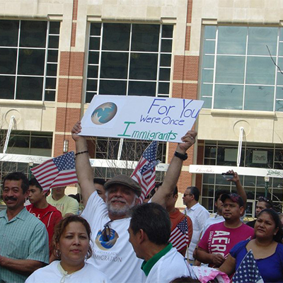 image from immigration rally
