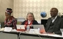 COGA meeting convenes on February 6, 2018 in St. Louis.  Members shown (left to right) Co-Moderator of the 222nd General Assembly (2016), the Rev. Denise Anderson; COGA moderator, the Rev. Dr. Barbara Gaddis; and Stated Clerk of the General Assembly, the Rev. Dr. J. Herbert Nelson, II