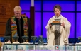 Bishop Katharine Jefferts Schori leads the Great Thanksgiving Prayer.