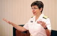 Margaret Kibben, chaplain of the Marine Corps and deputy chief of Navy Chaplains, spoke to attendees of the Presbyterians Caring for Chaplains and Military Personnel Luncheon.