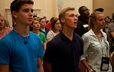 Young Adult Advisory Delegates participate in YAAD evening worship at the 220th GA.