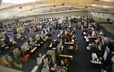 A panoramic view of the GA 220 Exhibit Hall.