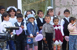 a group of children